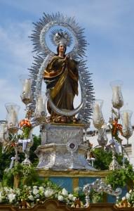 La Inmaculada Concepción formó parte este año de la procesión del Corpus Christi