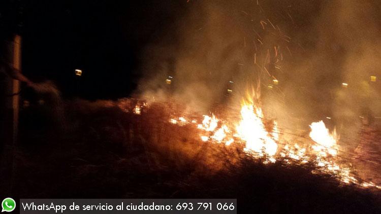 Incendio en el Naranjal de Castillo (VÍDEO)