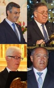 Roberto Jiménez Corpas, José Manuel Martínez Sánchez, José Joaquín Prieto Álvarez de Toledo y Francisco José García Vela
