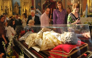 Visita de la reliquia del santo a Utrera
