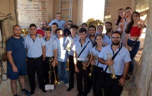 Campaneros y miembros de la banda «Muchachos de Consolación» participaron en la víspera del Corpus Christi