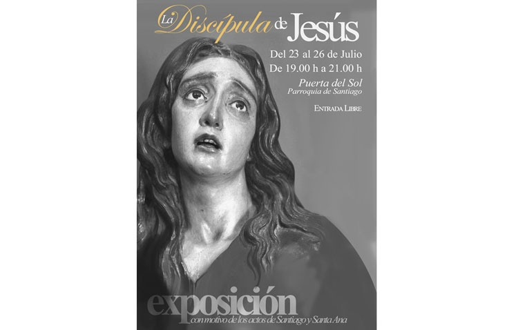 Una exposición sobre Santa María Magdalena en la parroquia de Santiago