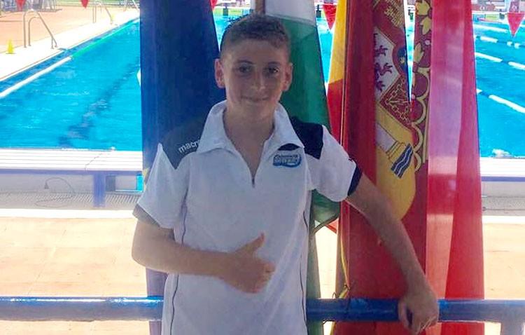 Un utrerano en el campeonato de España alevín de natación