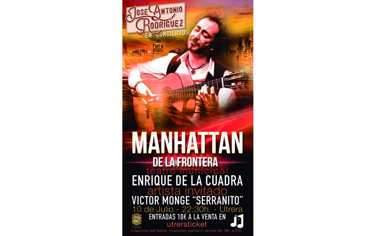 «Utrera Suena» abre las puertas de las «Noches de julio» con un concierto del prestigioso guitarrista José Antonio Rodríguez