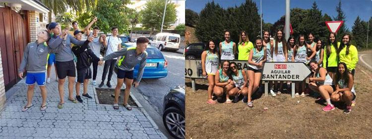 Cuatro equipos del Club Balonmano Utrera, en el campeonato de España de balonmano playa