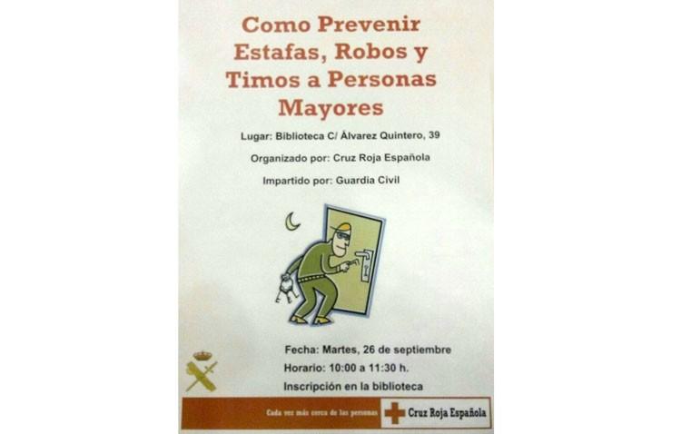 La Guardia Civil ofrece en Utrera una charla sobre cómo prevenir estafas, robos y timos a personas mayores
