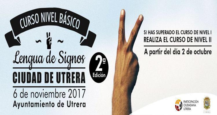 Nuevos cursos de lengua de signos ofertados por el Ayuntamiento de Utrera