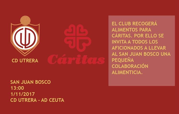 Partido solidario a favor de Cáritas entre el C.D. Utrera y el Ceuta