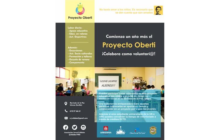 Aldaba busca voluntarios para su proyecto «Oberti» con niños en riesgo de exclusión social