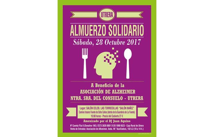 Almuerzo solidario en la asociación de familiares de enfermos de Alzheimer