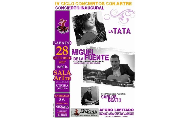 La sala Artre estrena su nuevo ciclo de conciertos con los cantantes La Tata y Miguel de la Fuente