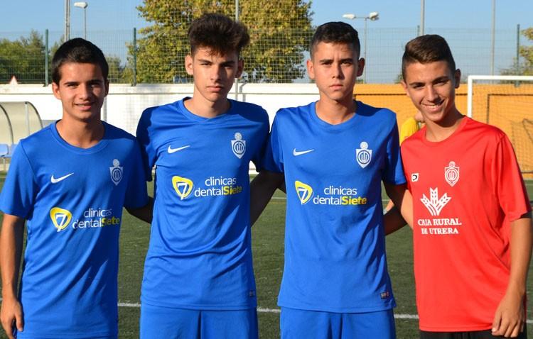 Cuatro cadetes del C.D. Utrera convocados por la selección sevillana