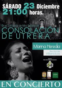 marina heredia concierto navidad - cartel 1