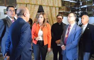 Susana Díaz, en su visita a Consolación en 2014