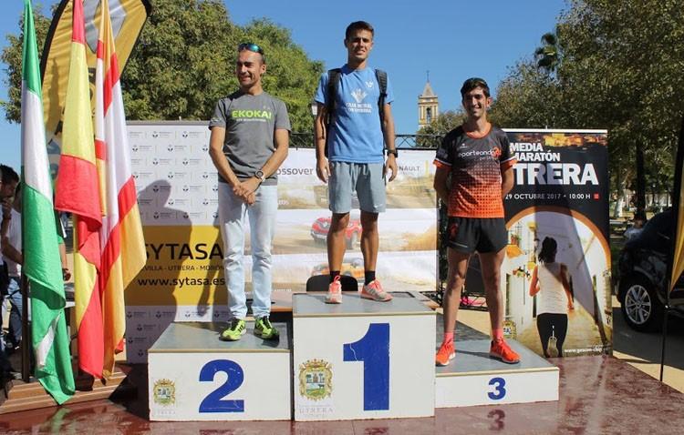 Pódium para el Club Utrerano de Atletismo en la media maratón