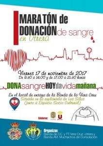 maraton donacion sangre cartel 1