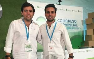 Diego Javier Garcia, junto a Pedro González