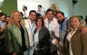 Miembros del PP de Utrera, en el congreso de NNGG