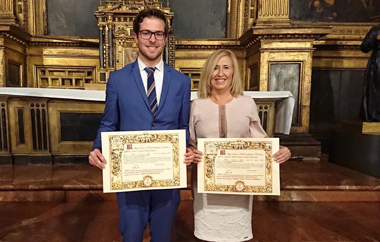 Dos utreranos reciben el premio extraordinario de fin de estudios de la Universidad de Sevilla