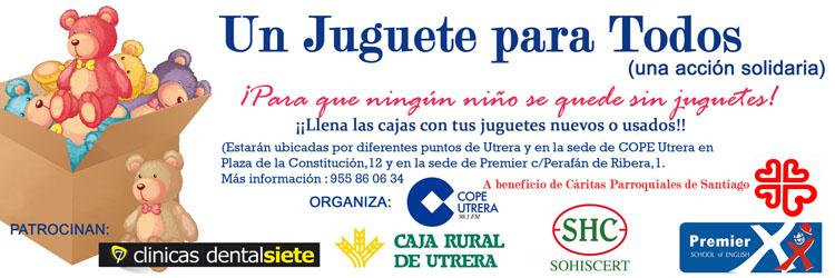 COPE Utrera (98.1 FM) sale un año más a la calle con la campaña solidaria «Un juguete para todos»