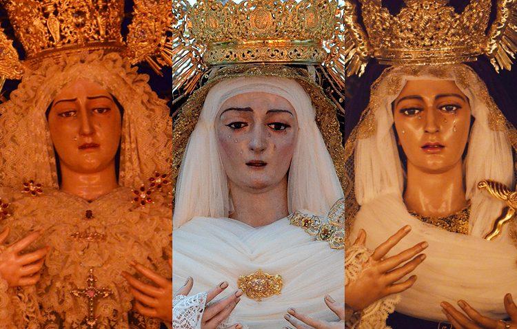 Tres besamanos en Utrera para conmemorar el día de la Inmaculada Concepción