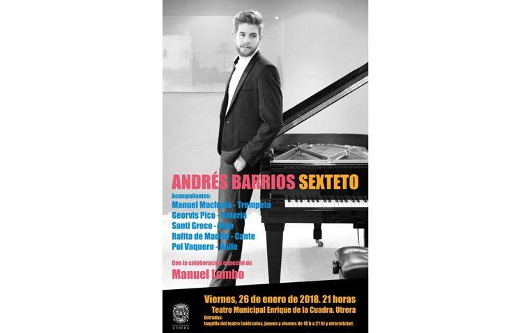 Concierto del pianista utrerano Andrés Barrios en el teatro