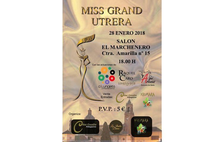 «Miss Grand Utrera» busca el domingo 28 a la joven más guapa de la ciudad