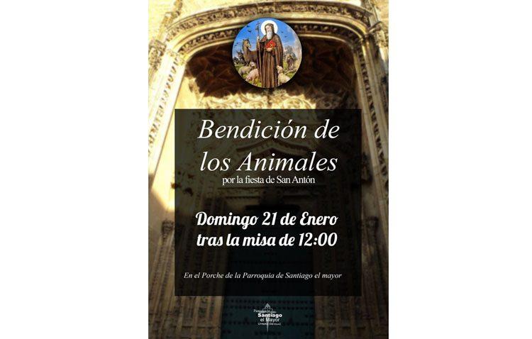 Bendición de animales en la parroquia de Santiago por la fiesta de San Antón