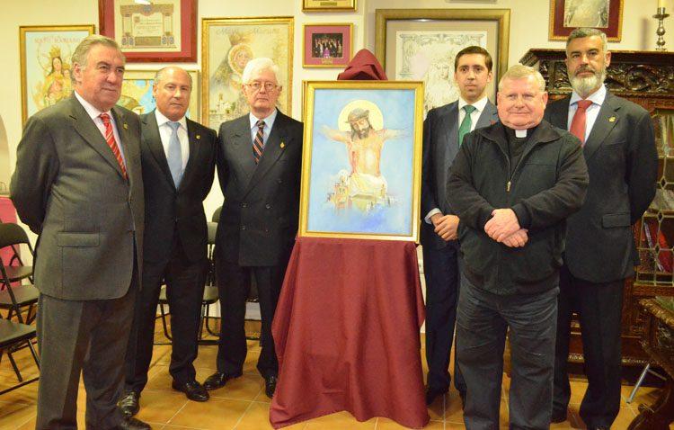 El Consejo de Hermandades presenta el cartel del vía crucis, que pasa al primer domingo de Cuaresma a las 19.30 horas