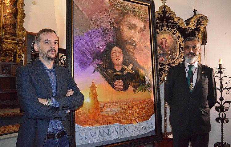 Un guiño a la historia de la Semana Santa de Utrera en el cartel de Antonio Rodríguez Ledesma