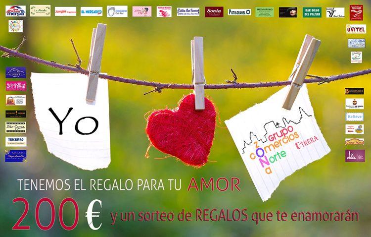 El grupo de comercios de la zona norte de Utrera repartirá 900 euros en premios con motivo de San Valentín