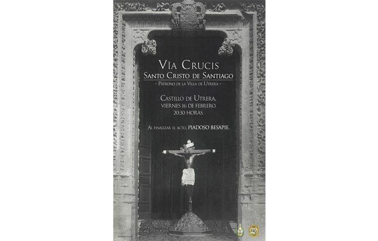 Vía crucis con el Cristo de Santiago en el castillo de Utrera