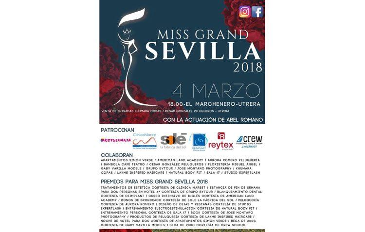 Utrera acogerá la gala «Miss Grand Sevilla»