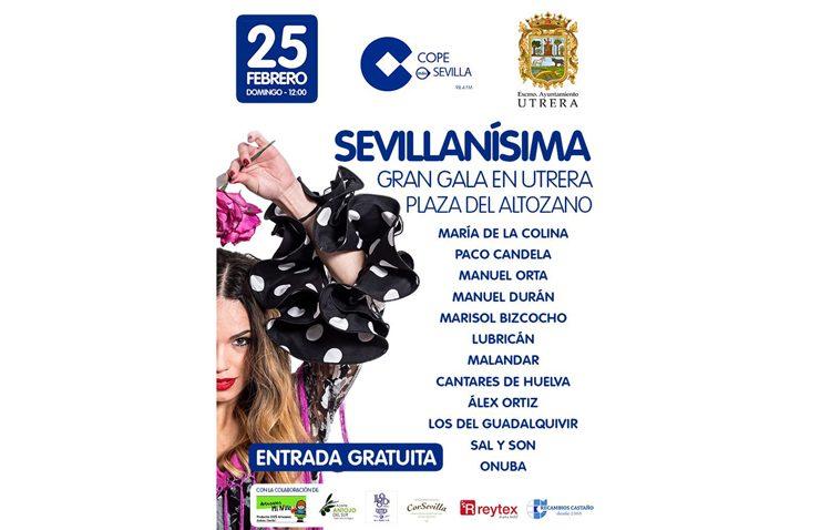 COPE Sevilla llega a Utrera con una docena de artistas en su gala «Sevillanísima»