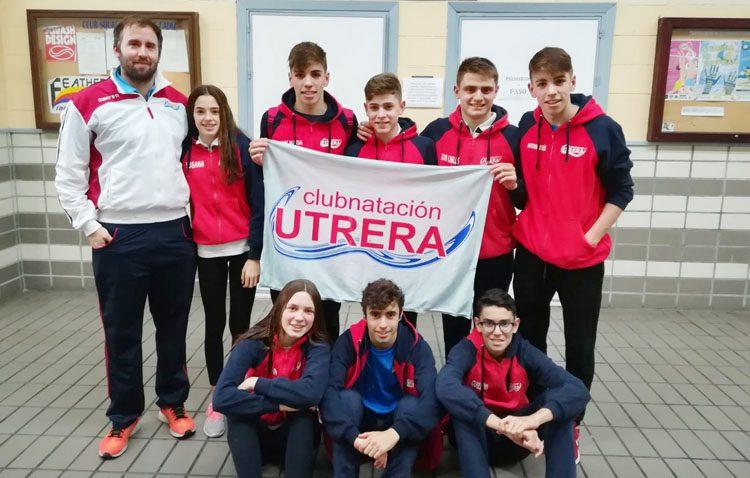 Buenos resultados para el Club Natación Utrera en el Campeonato de Andalucía Infantil de Invierno