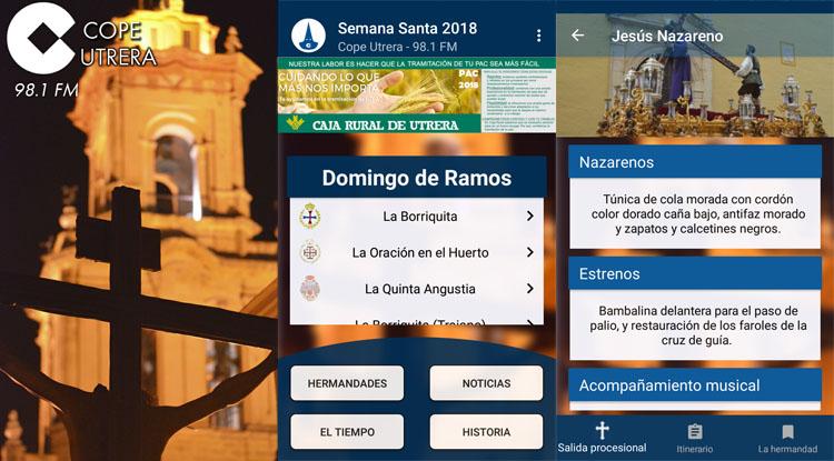 La app «Semana Santa COPE Utrera» cumple 5 años ofreciendo todos los datos e información exclusiva sobre estos días