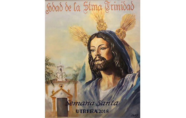 El Señor en su Entrada en Jerusalén, protagonista del cartel de Semana Santa editado por la hermandad de la Trinidad