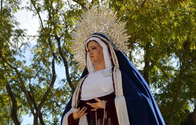 Suspendida la visita de la Virgen de la Amargura al geriátrico por la previsión de lluvias