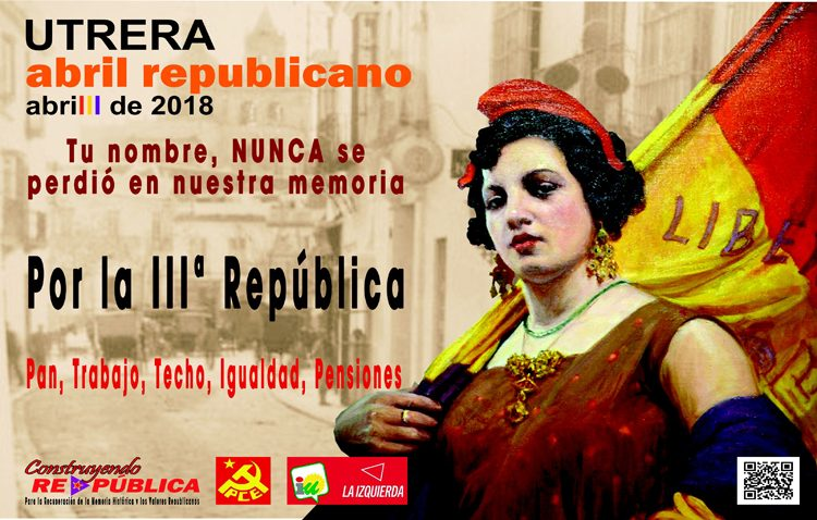 Media docena de actos para conmemorar en Utrera el «Abril republicano»