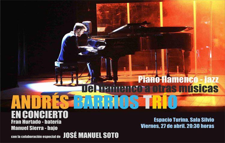 El pianista utrerano Andrés Barrios, protagonista de un nuevo concierto en Sevilla