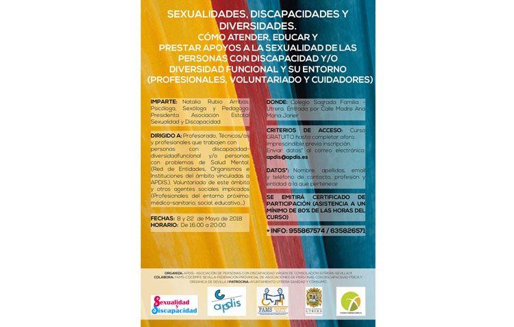 Unas jornadas hablarán en Utrera sobre «Sexualidad, discapacidad y diversidad»
