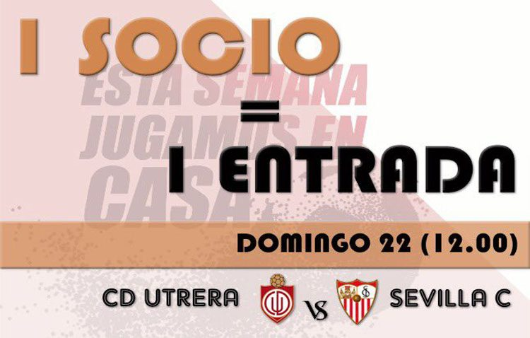 El C.D. Utrera lanza una promoción para llenar el domingo el estadio municipal San Juan Bosco