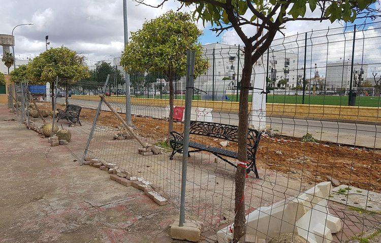 Actuaciones de mejoras junto al campo de fútbol de El Tinte
