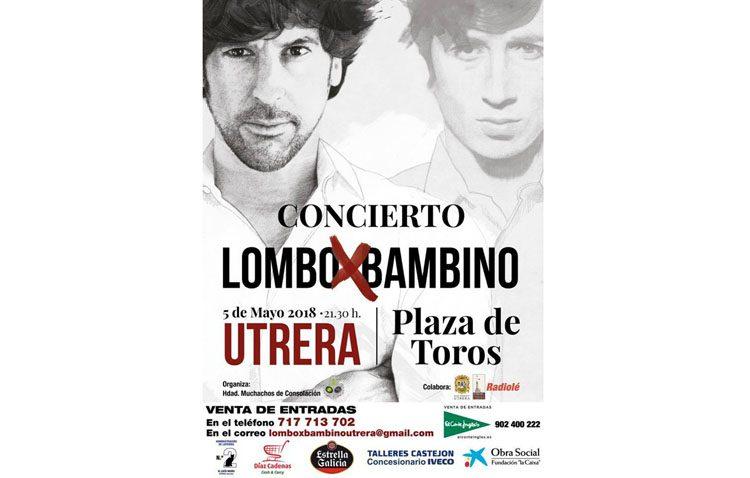 Noche con música de Bambino de la mano de Manuel Lombo en la plaza de toros de Utrera
