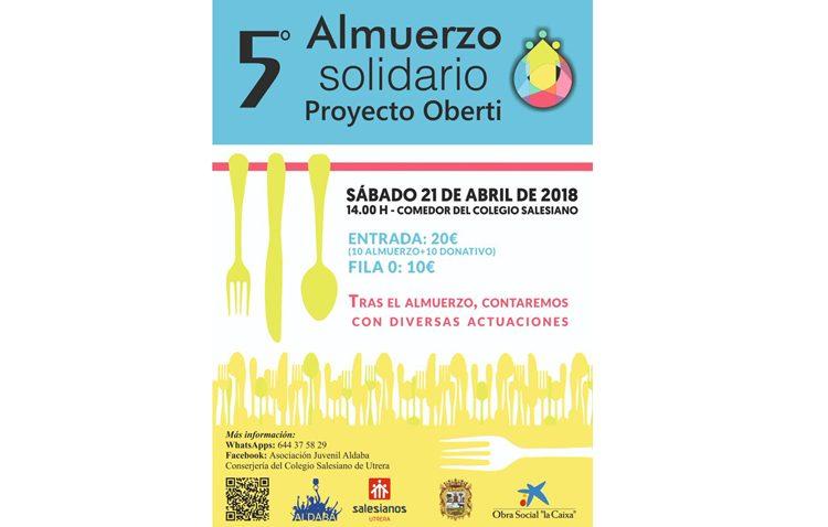 Almuerzo solidario de Aldaba a beneficio del proyecto «Oberti»