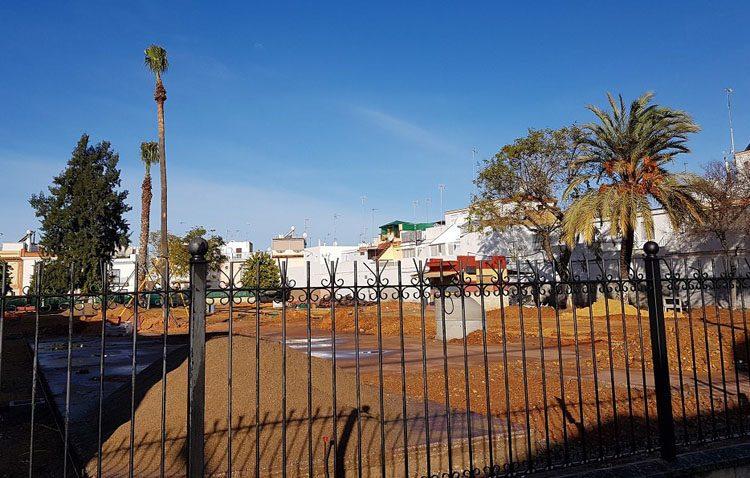Cerrada al tráfico la calle Buena Sombra por obras