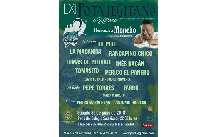 El Potaje Gitano da a conocer el cartel de artistas que actuarán en una noche de homenaje a Moncho