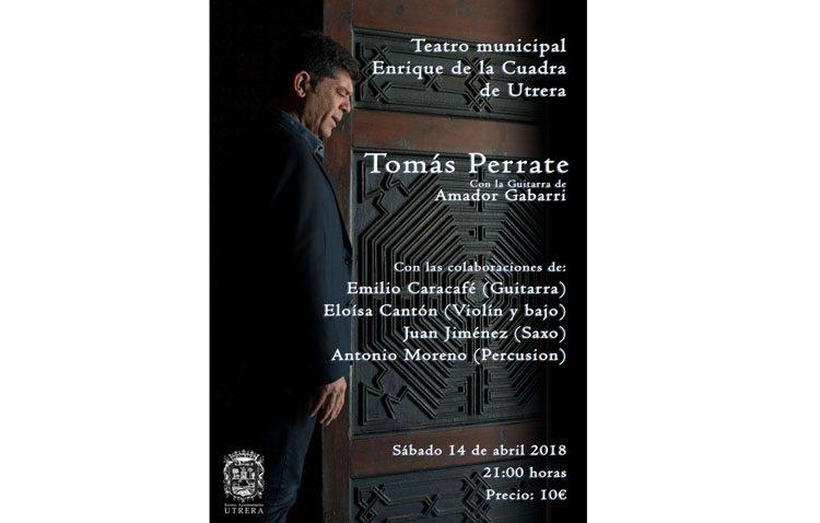 Concierto del cantaor Tomás de Perrate en el teatro de Utrera