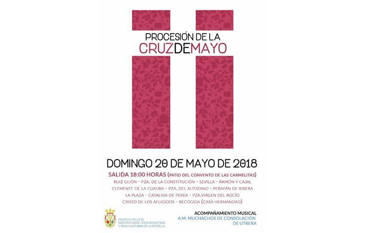 La asociación de fieles del Resucitado organiza una procesión de cruz de mayo