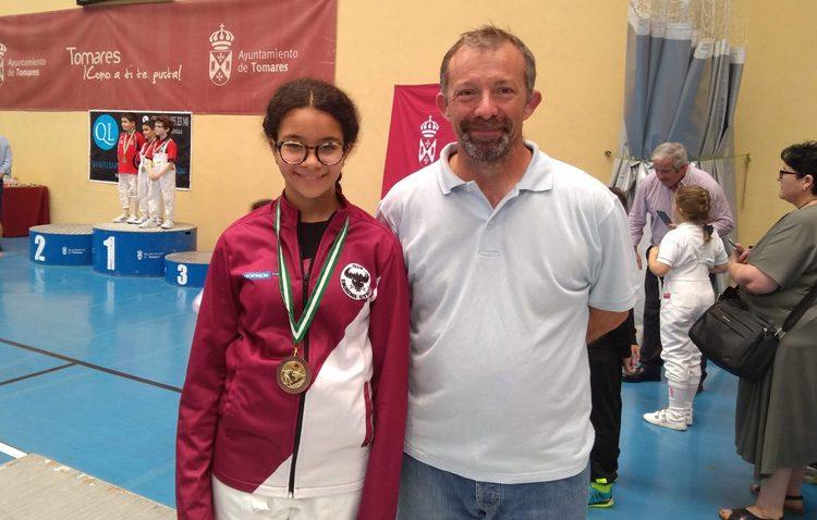 Medalla de bronce para el Club de Esgrima de Utrera en el Campeonato de Andalucía